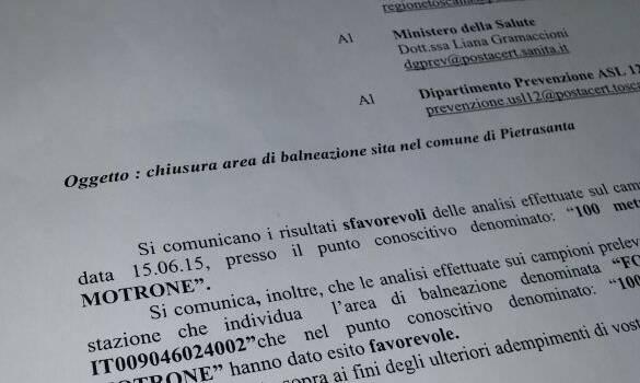 """""""Mallegni si è dimenticato di emettere il divieto di balneazione a Marina di Pietrasanta"""""""