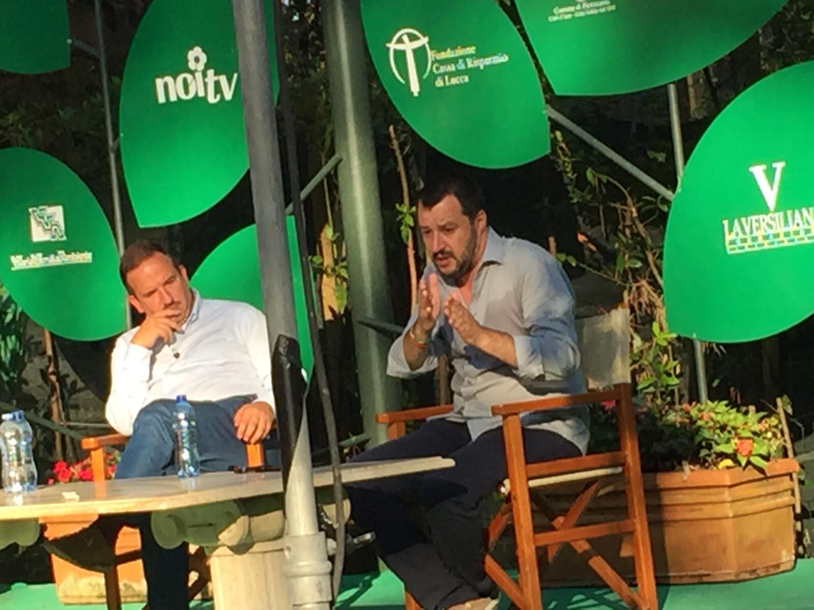 """Salvini alla Versiliana: """"Bisogna tornare a votare a Viareggio"""""""