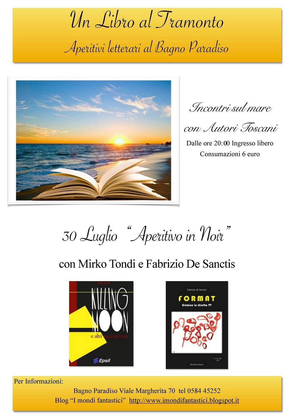 Un libro al tramonto al bagno paradiso ogni gioved - Bagno elena forte dei marmi ...