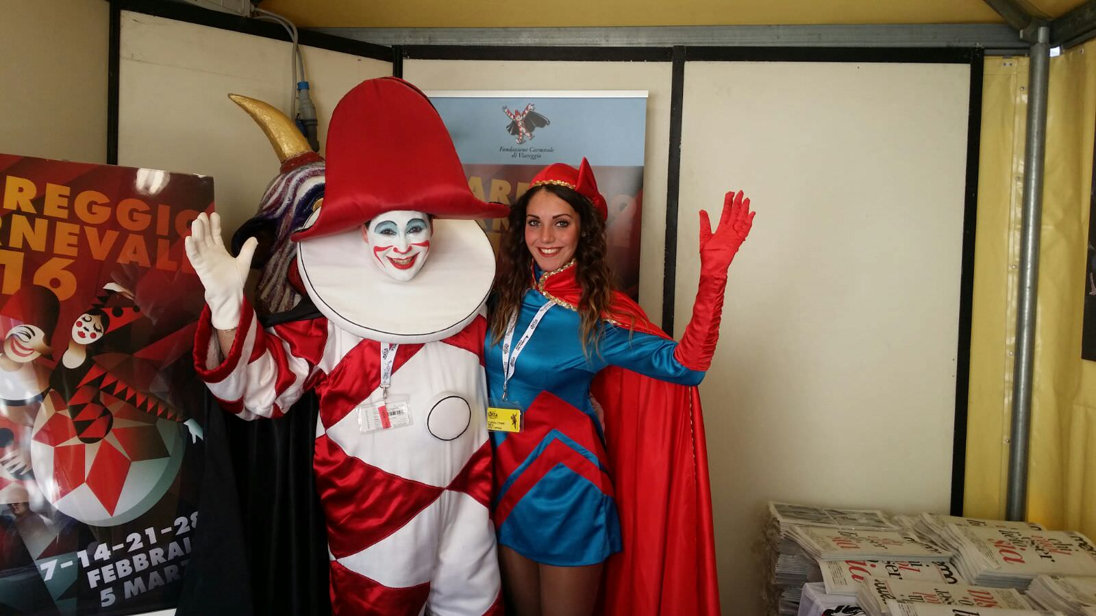 Burlamacco e Ondina promuovono il Carnevale a Lucca Comics (le foto)