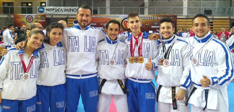 Pioggia di medaglie per la nazionale di karate del ct viareggino Gasperini