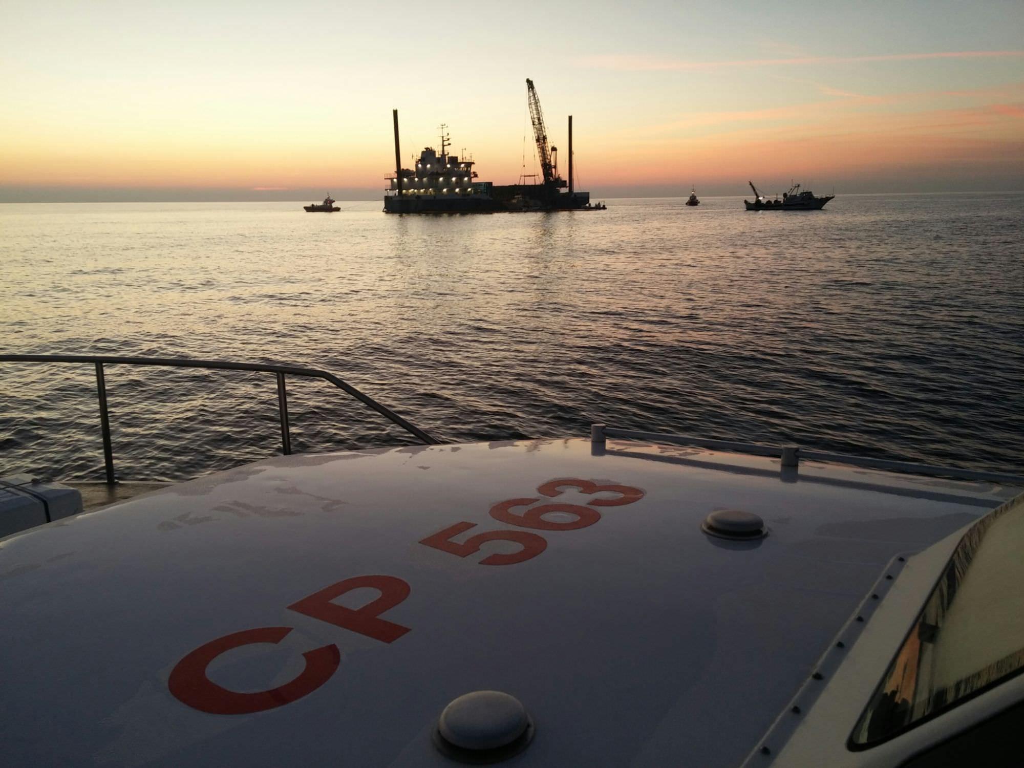 Tornato in porto nella mattinata il peschereccio affondato a Viareggio