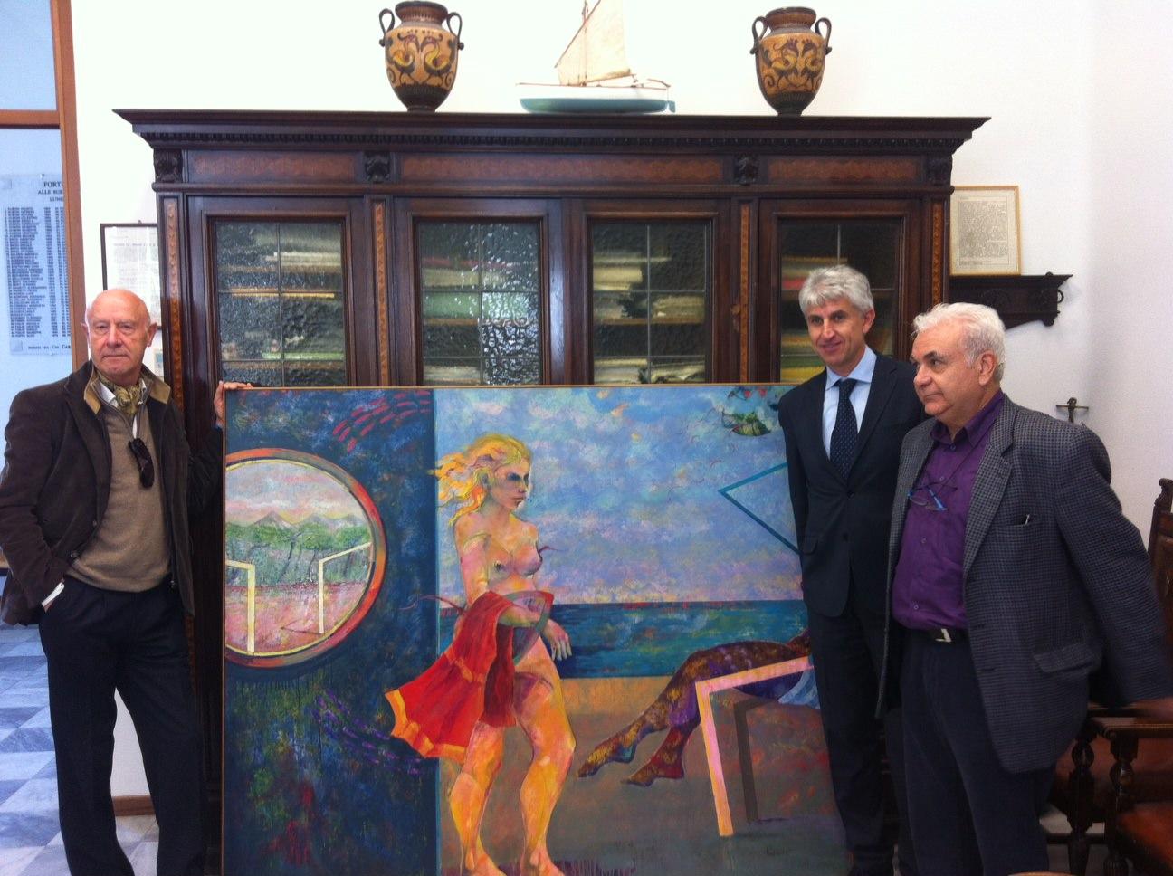 L'artista Stefano Paolicchi dona un quadro al Comune