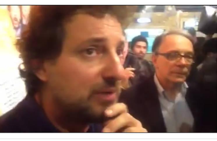 Pieraccioni, bagno di folla a Viareggio