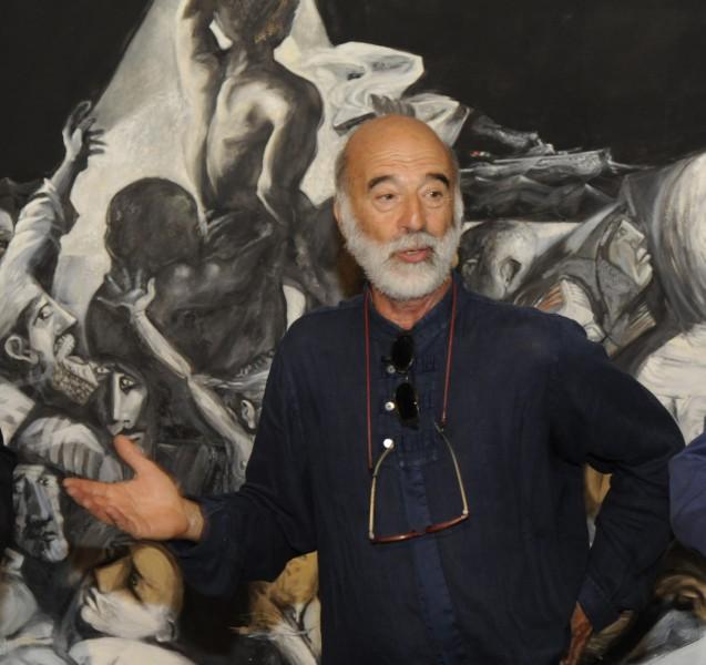 """""""La Zattera dei Migranti"""", dramma ed attualità nella tela esposta in Sant'Agostino"""