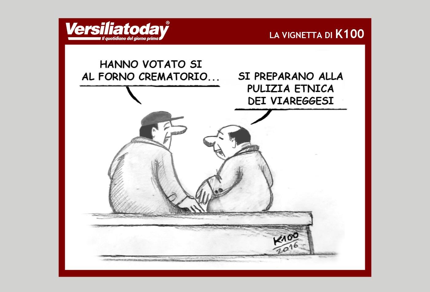 La vignetta di K100