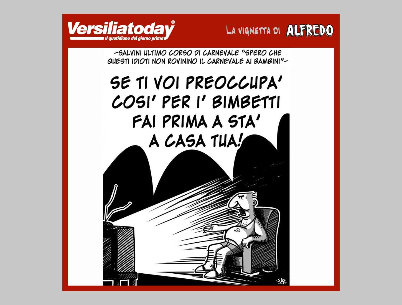 Salvini al Carnevale – La vignetta di Alfredo