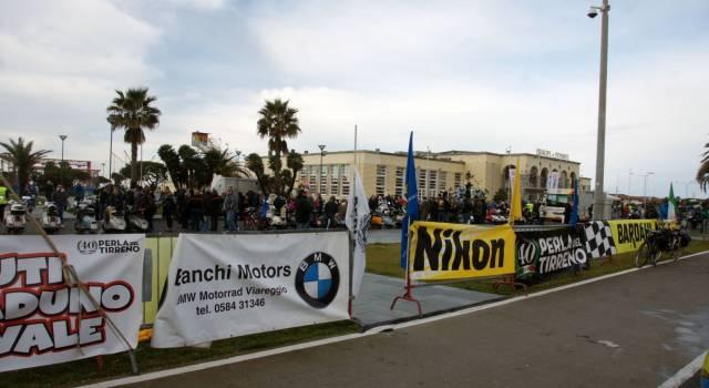 Motoraduno del Carnevale di fronte al Principe di Piemonte