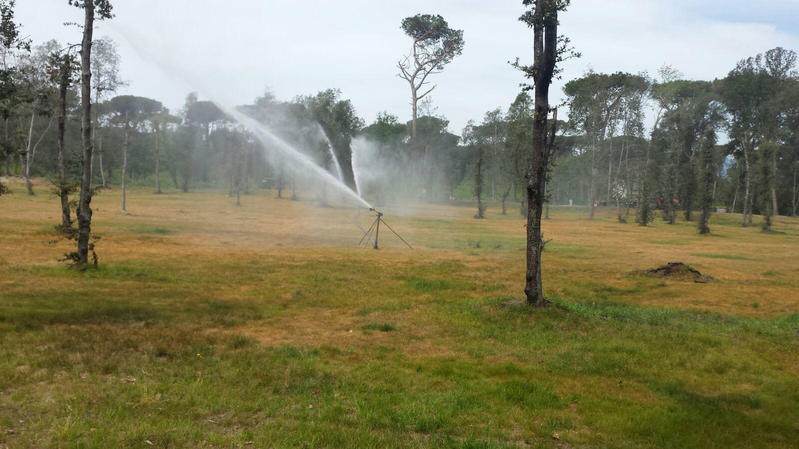 Nuova sistemazione per gli impianti di irrigazione