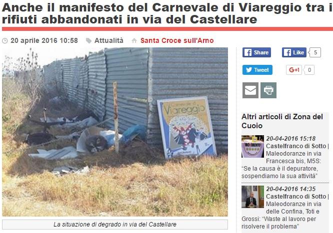 Manifesto del Carnevale in mezzo ai rifiuti