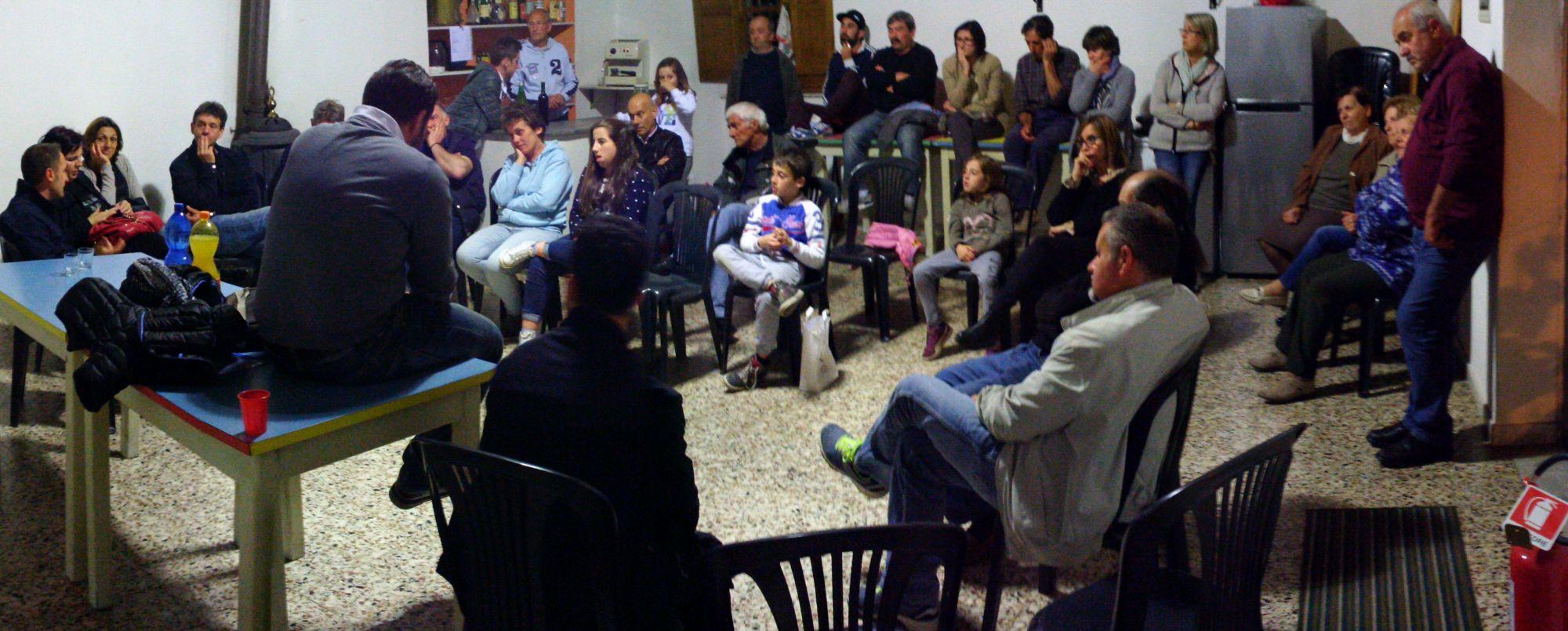Cavirani incontra gli abitanti di Giustagnana