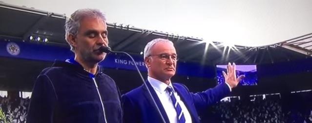 Bocelli canta Puccini alla festa del Leicester City (video)