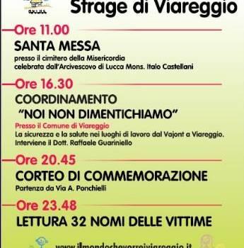 Il programma del settimo anniversario della strage di Viareggio