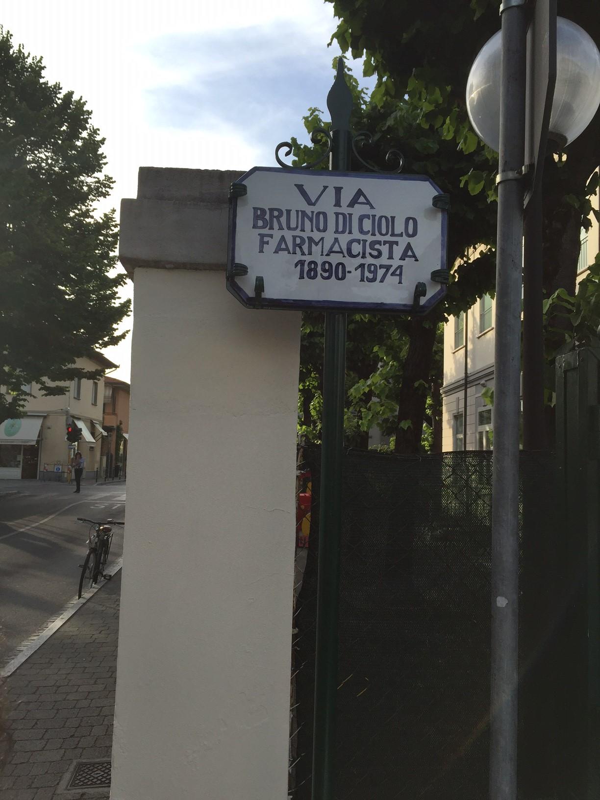Intitolata una strada a Bruno Di Ciolo