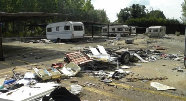 Prima il Campo Rom ora desolazione e rifiuti nel Parco