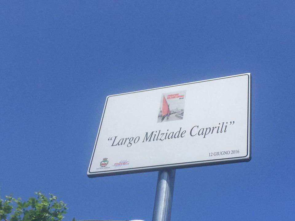 Inaugurato Largo Milziade Caprili
