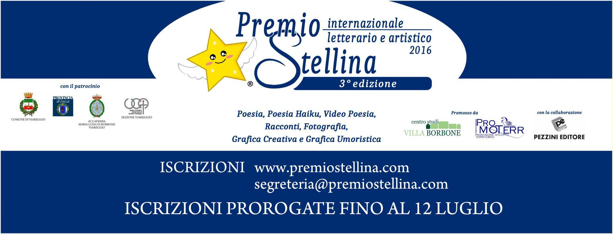 Prorogate le iscrizioni per il Premio Internazionale Stellina