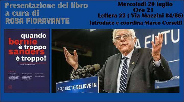 Sanders la presentazione del libro a lettera 22 eventi - Quando scade la presentazione del 730 ...