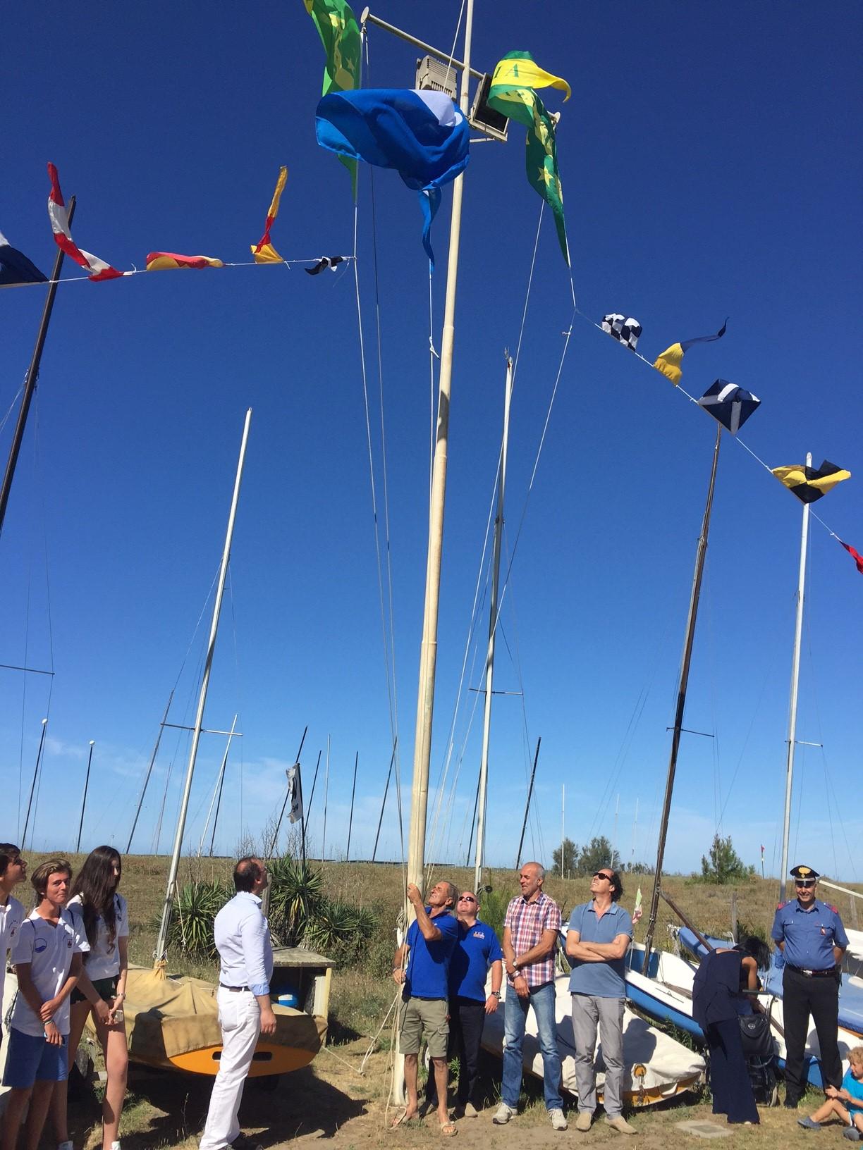 Cerimonia allo Yachting Club per la Bandiera Blu