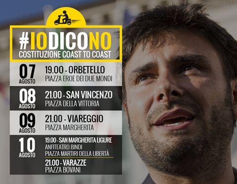 Referendum, a Viareggio il comizio del grillino Di Battista