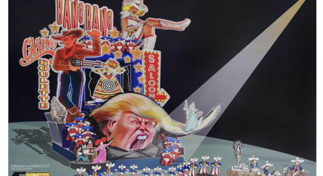 Vince Trump, sarà protagonista al Carnevale di Viareggio