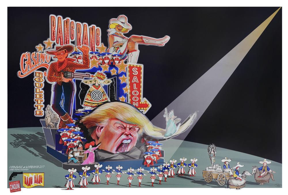 """Trump, Raggi e Renzi, i """"protagonisti"""" del Carnevale di Viareggio 2017"""