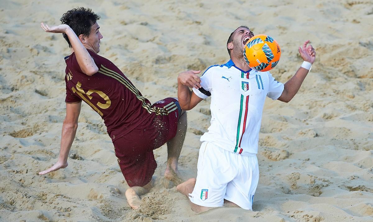 Beach soccer, Italia ko con la Russia