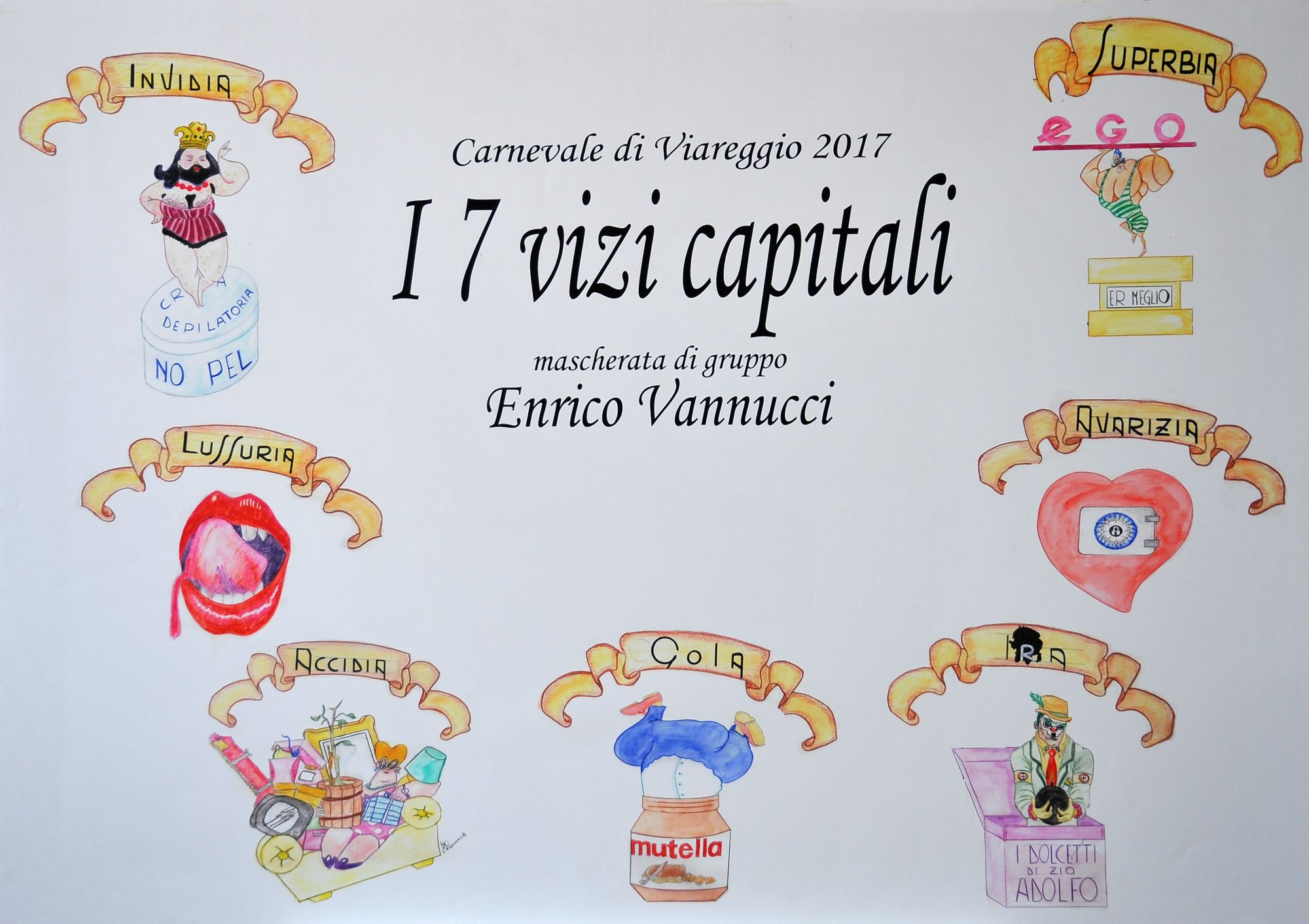 Sette peccati capitali simboli