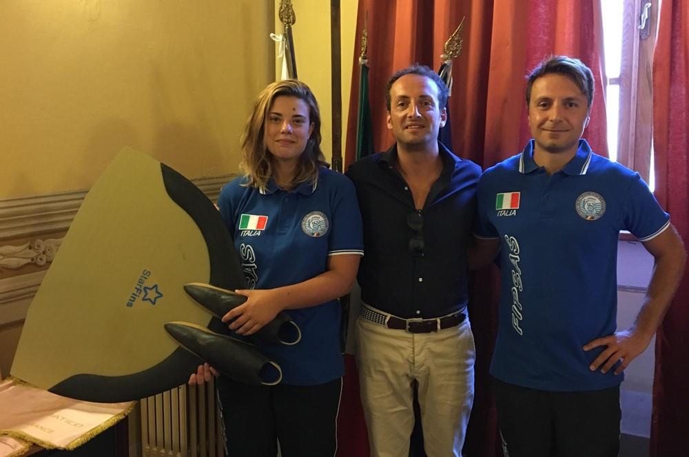 Due atleti del Kama Sub ricevuti dal sindaco di Camaiore