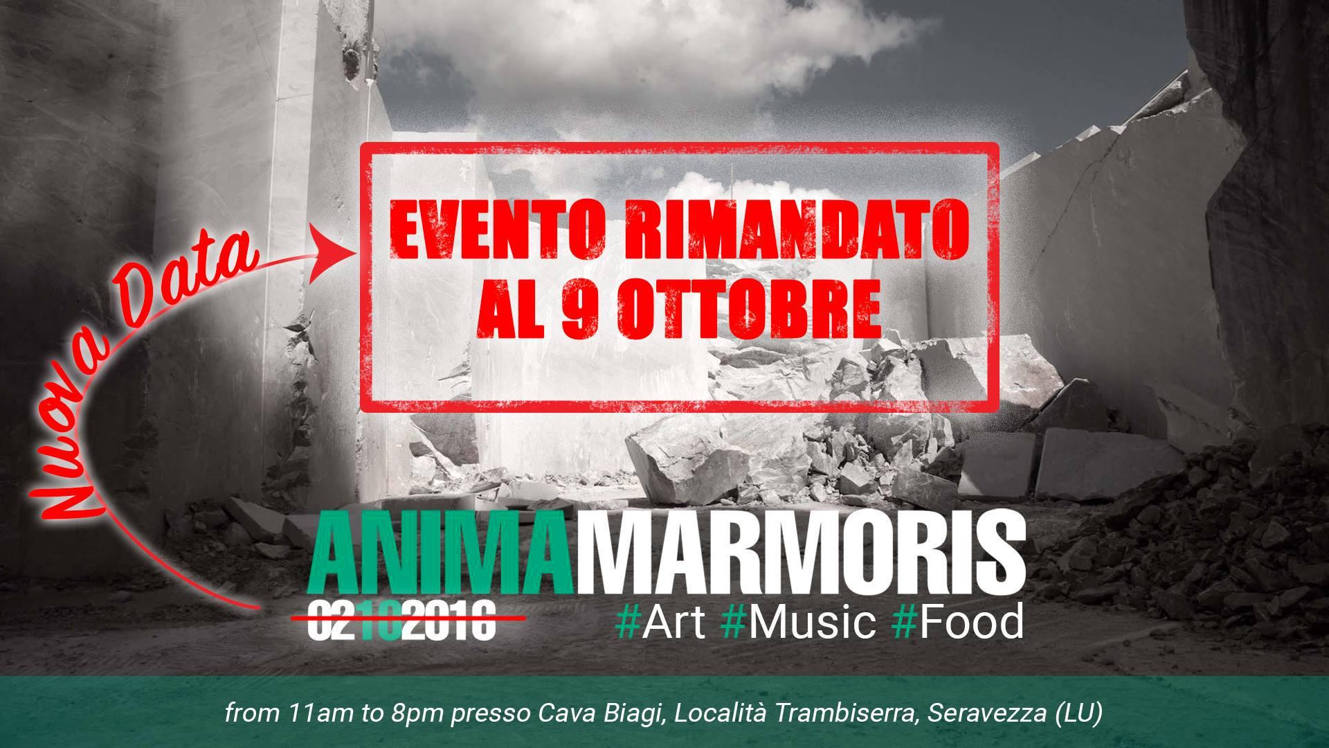 Anima Marmoris, nuova data per l'atteso evento alla cava Biagi