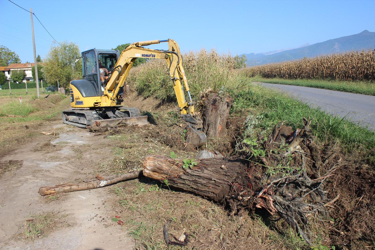 Al via i lavori di pulizia dei fossi comunali