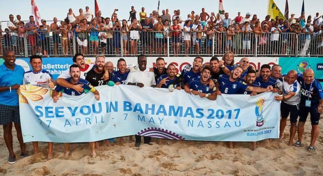 Sei viareggini alle Bahamas: l'Italia qualificata per i Mondiali di beach soccer