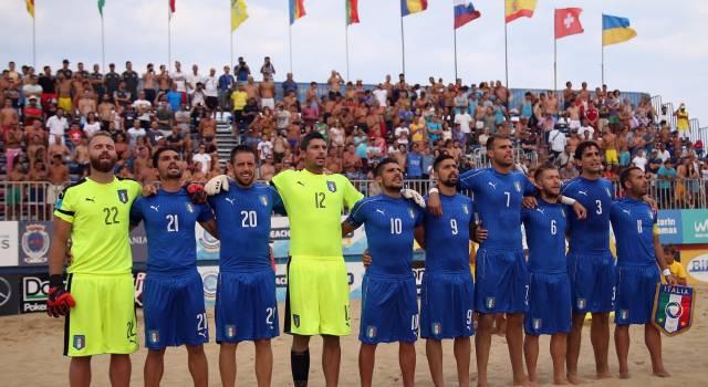 Una vittoria e due ko per l'Italia alla Supercoppa delle Nazioni di beach soccer