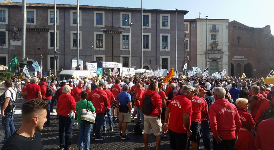 Balneari, nuova protesta a Roma