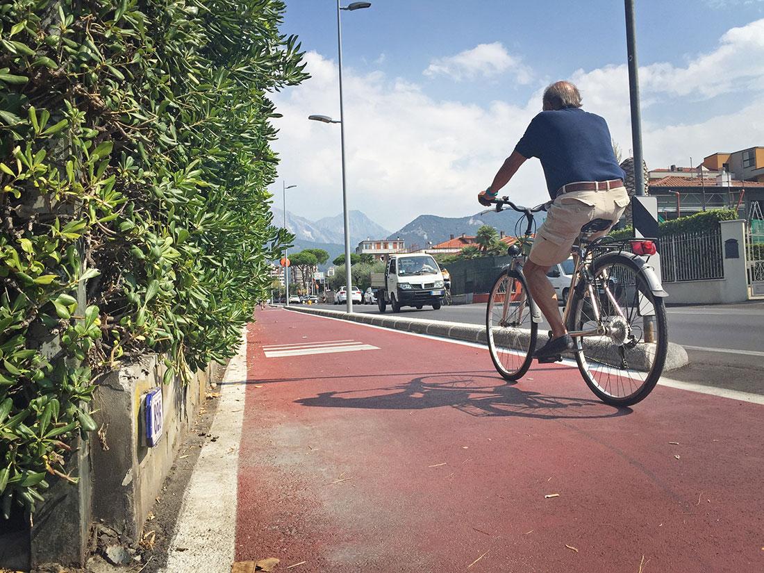 Partono i lavori per la Ciclopista Tirrenica sui viali di Forte e Pietrasanta