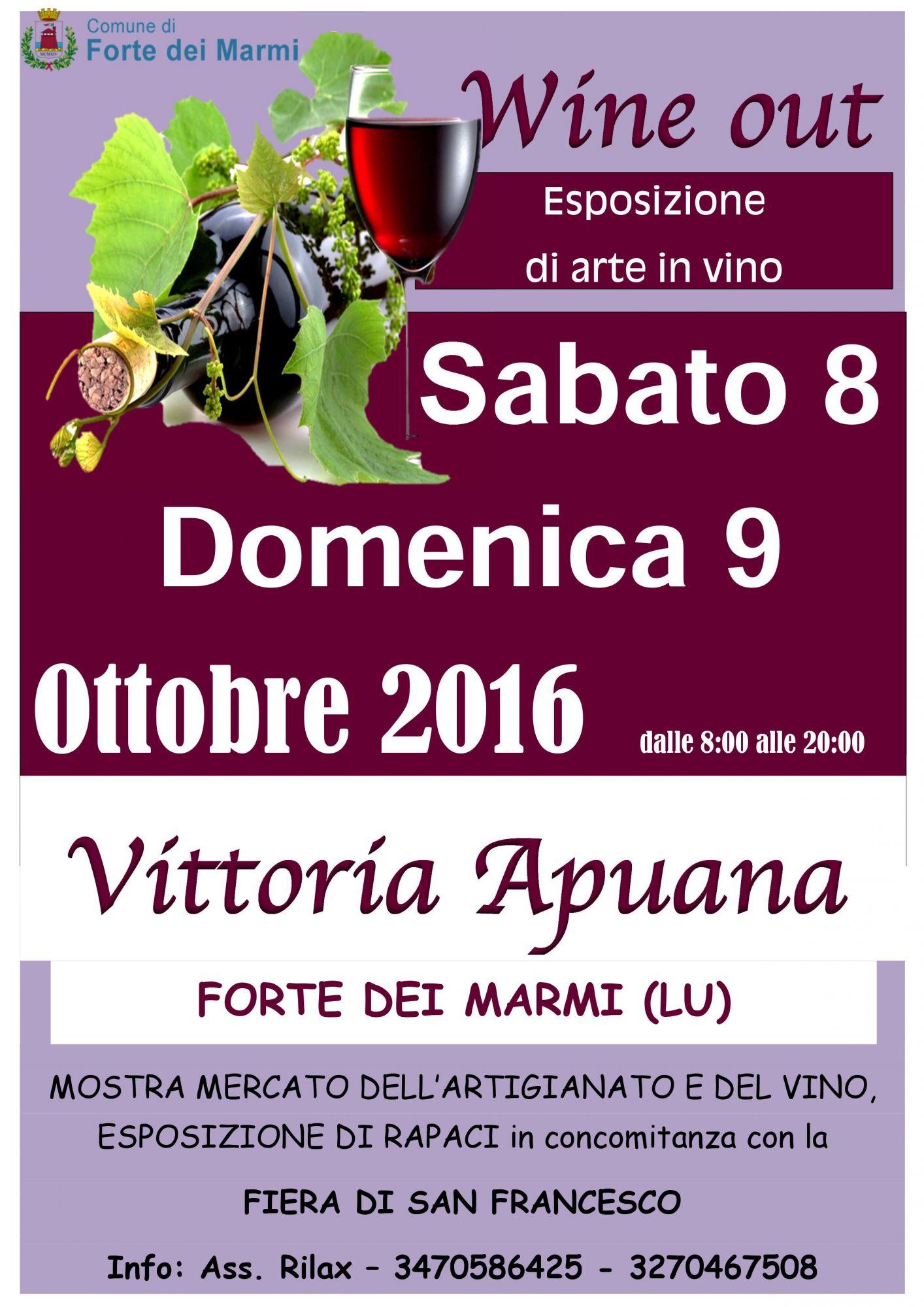 A Vittoria Apuana arriva Wine Out, arte e vino in strada