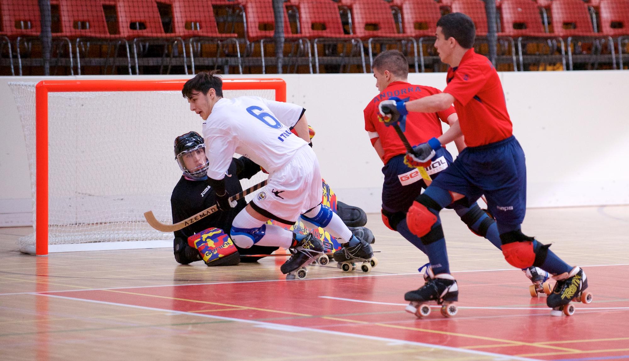 Gavioli (Cgc) in gol agli Europei Under 20 di hockey