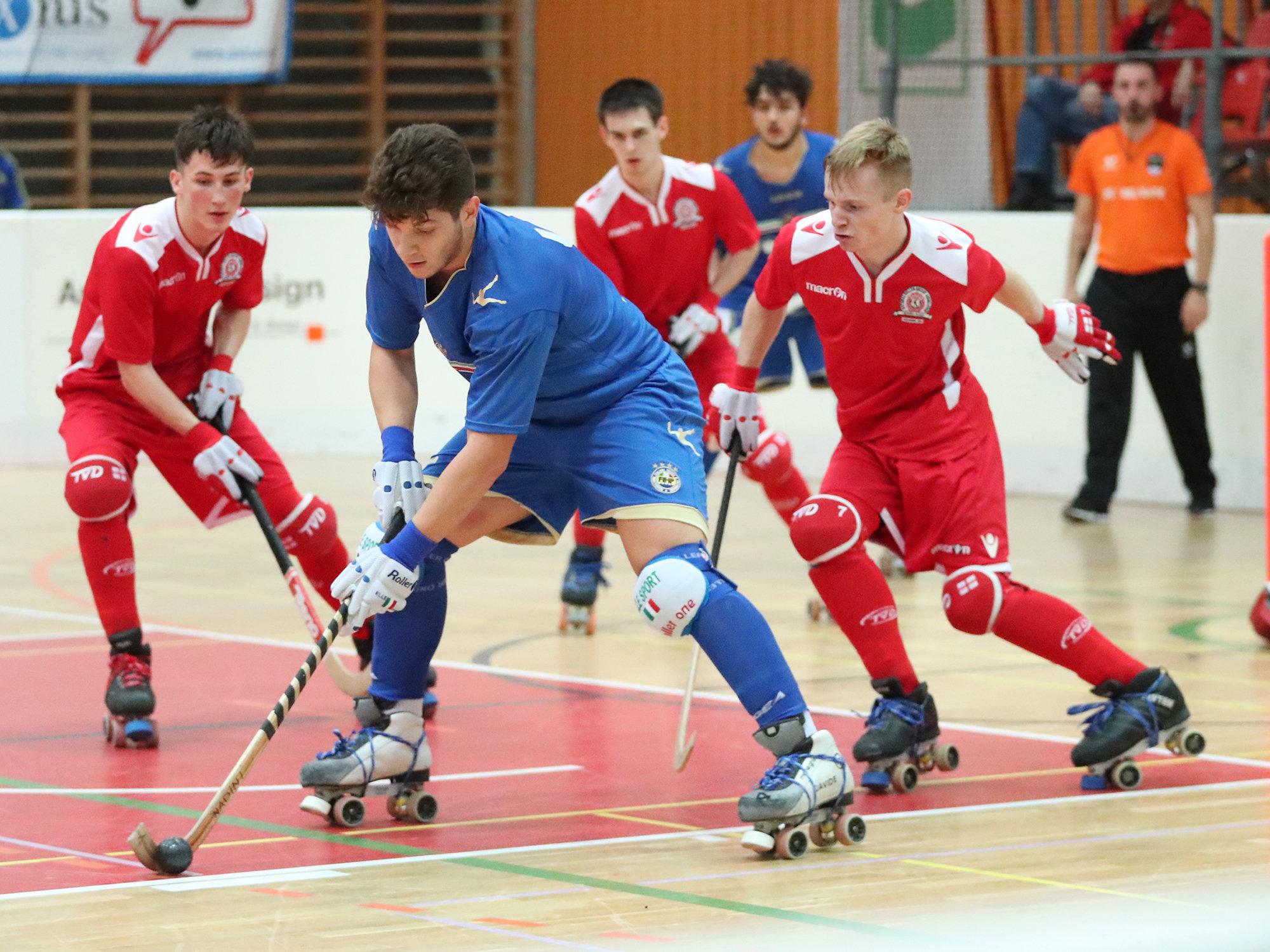 Italia forza nove agli Europei Under 20 di hockey su pista