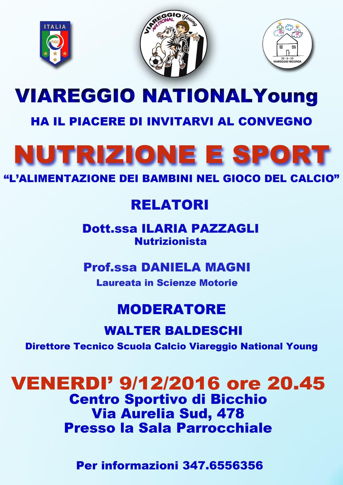 Convegno nutrizione e sport con il Viareggio National Young