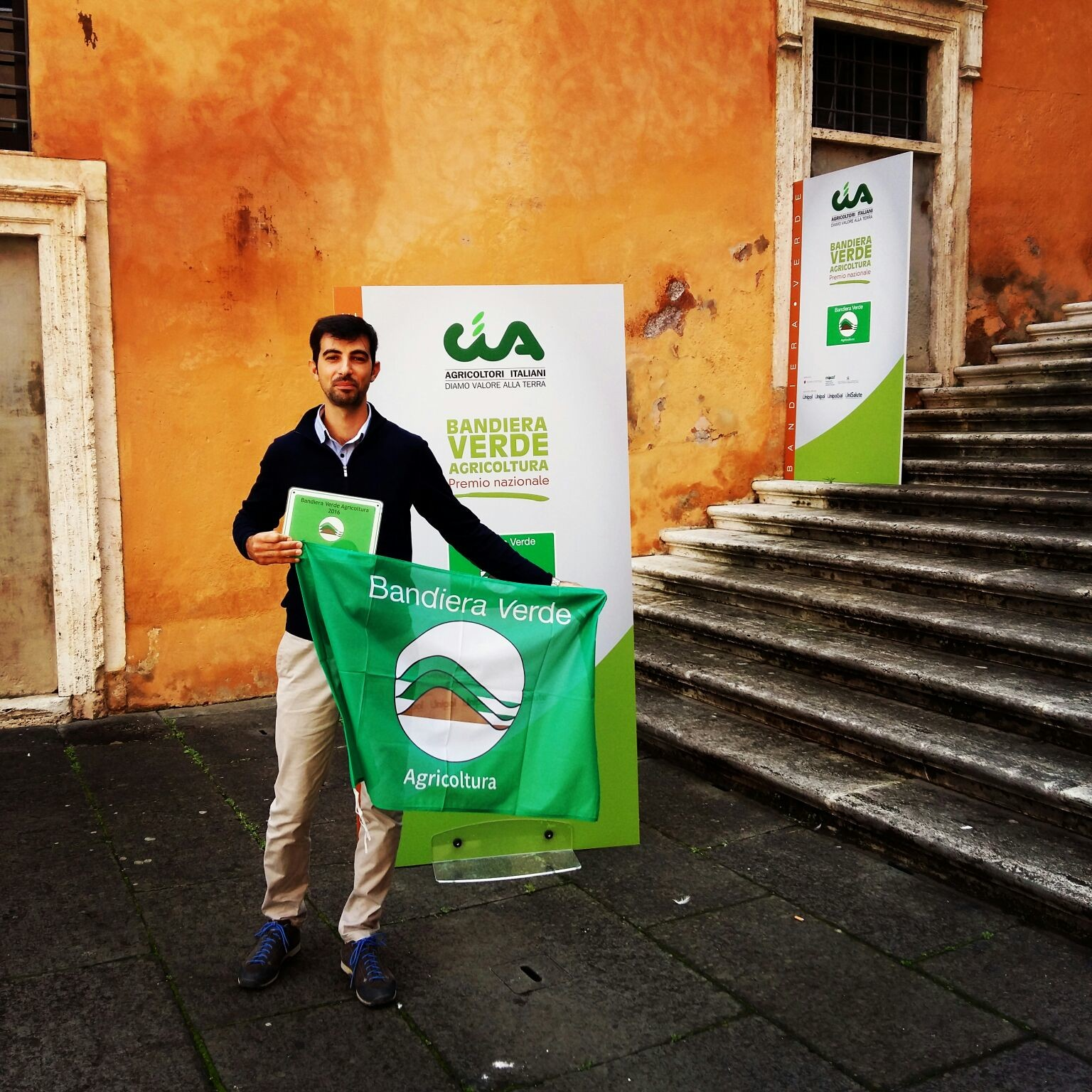 Giovane agricoltore versiliese premiato a Roma
