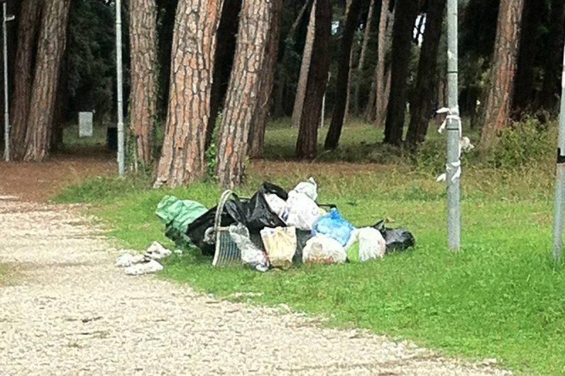 Sacchi di immondizia abbandonati sporcizia e degrado al - Sacchi di terra per giardino ...