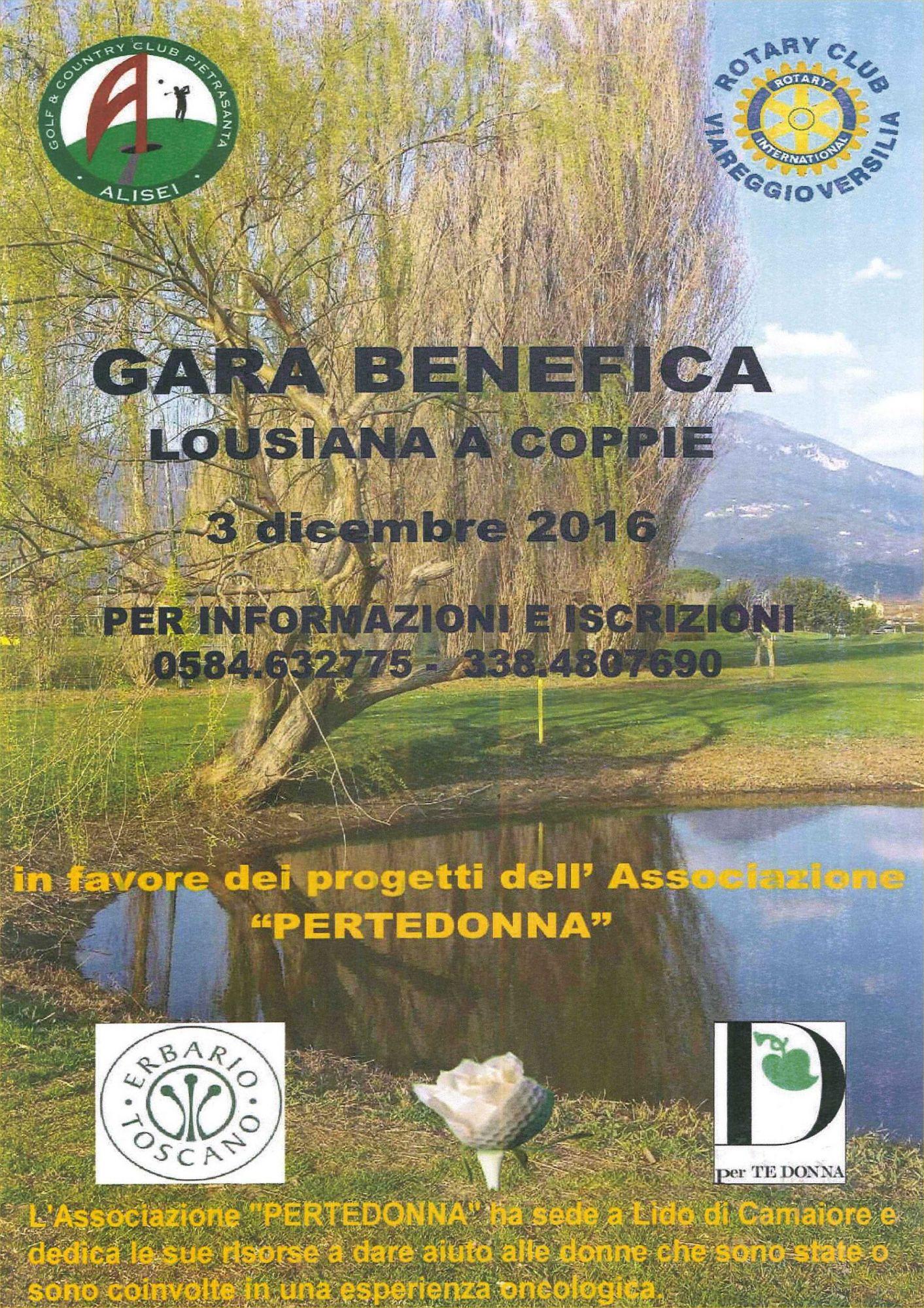 Golf e solidarietà con il Rotary Club Viareggio Versilia e il Golf Club Alisei