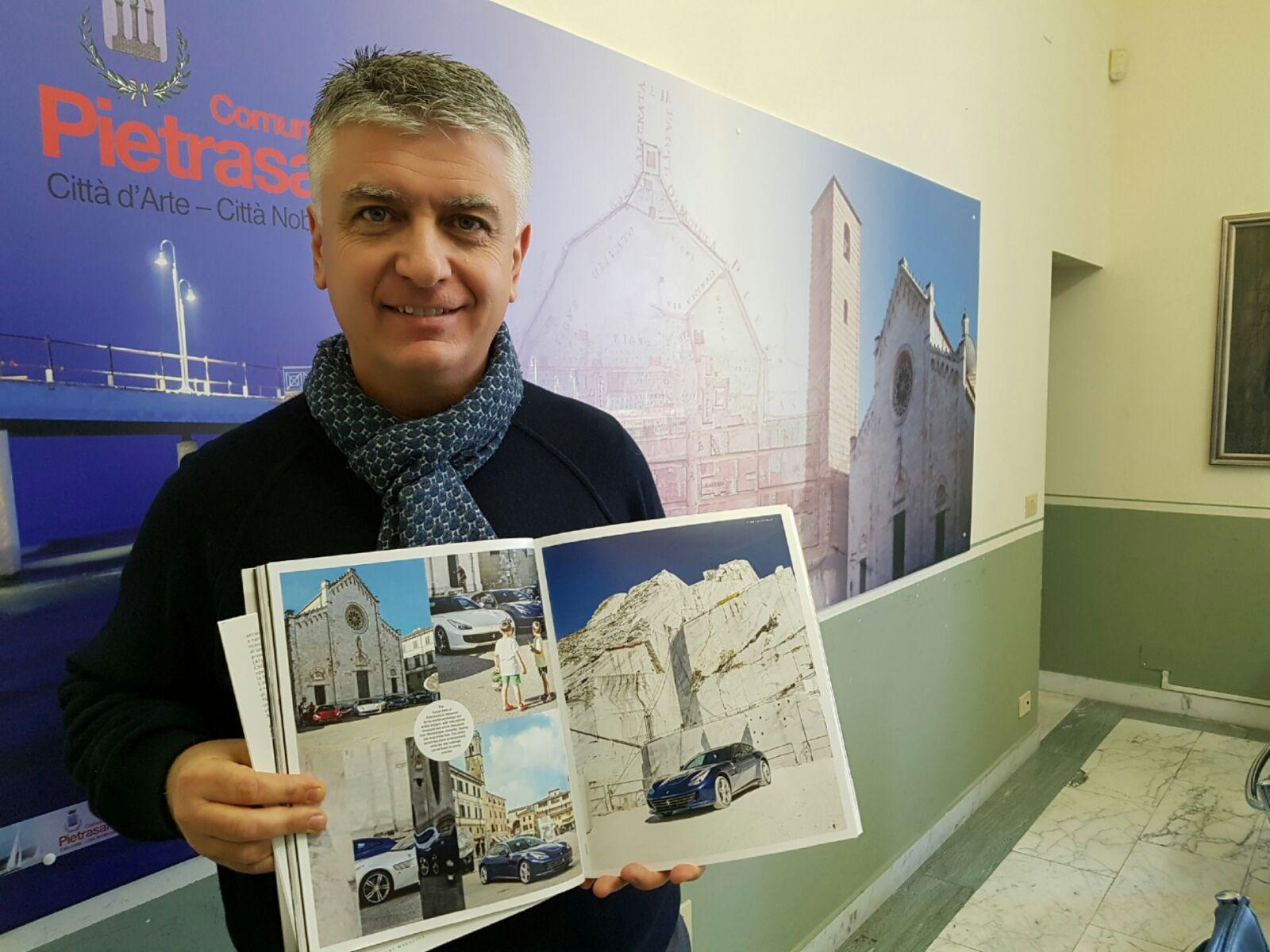 Pietrasanta sul Ferrari Magazine, spot mondiale per la città