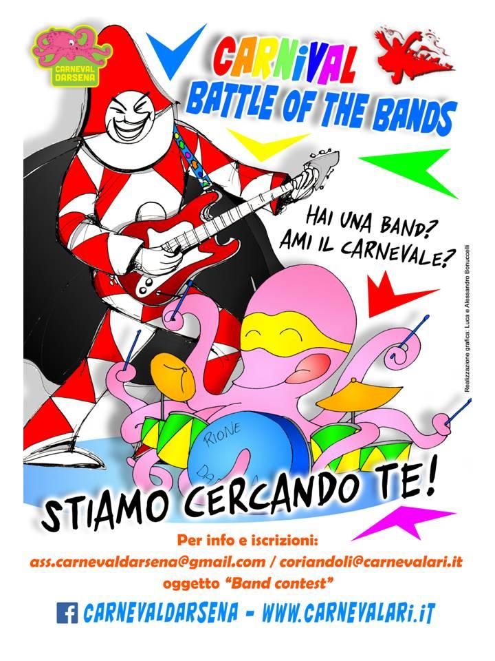 Carnevale di Viareggio 2017, sfida tra band al rione Darsena