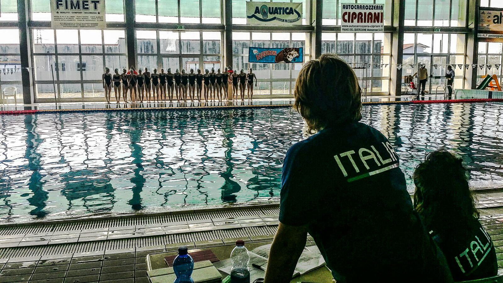 Massarosa ospita la Nazionale di nuoto Sincro