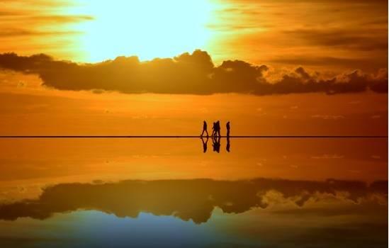Spettacolo al tramonto