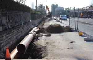 Foto nuovo marciapiede via Provinciale Vallecchia