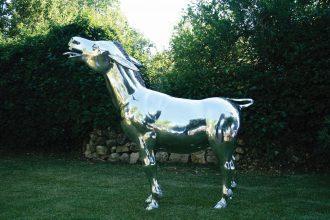 Salvador Dalì Giuseppe Carta, Asino, 2009, alluminio, fusione a cera persa, cm 203x80x200h