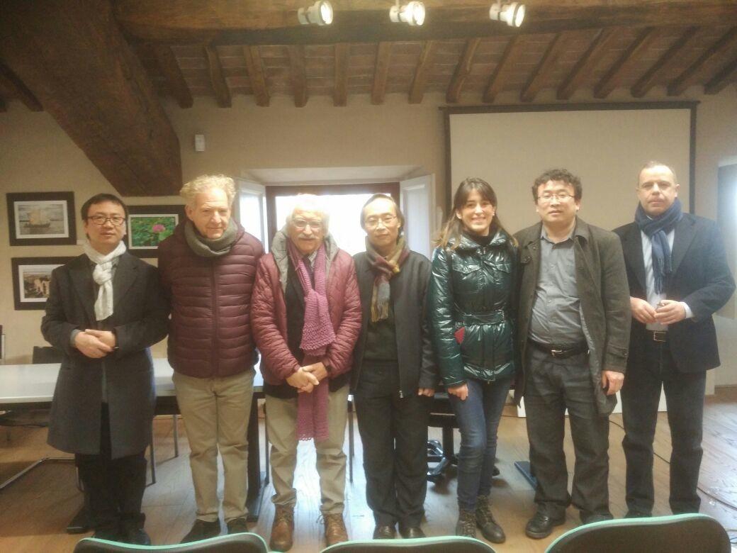 Delegazione di docenti e artisti cinesi a La Brilla