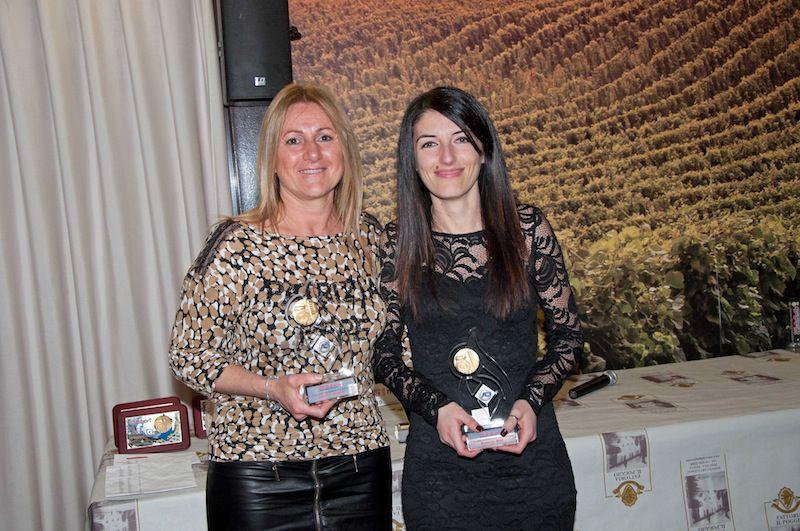 Le vincitrici della classifica femminile, Luciana Bandini e Manuela Milli